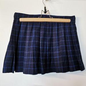Reserved* NWOT Zara wool blend mini pleated skirt